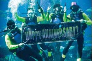 Underwater anniversary